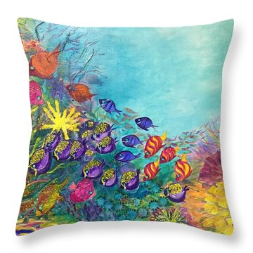 Many Colours Throw Pillow