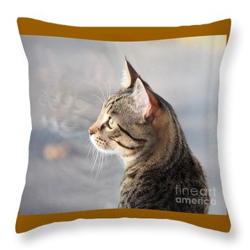 Throw Pillow featuring the photograph Many Faces Of Monty.. by Jolanta Anna Karolska