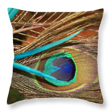 Many Feathers Throw Pillow