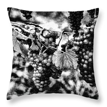 Many Grapes Throw Pillow