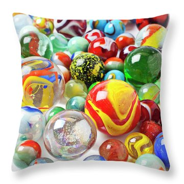 Many Marbles  Throw Pillow