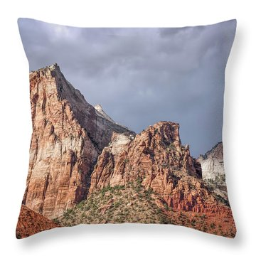 Throw Pillow featuring the photograph Many Splendored Zion by John M Bailey
