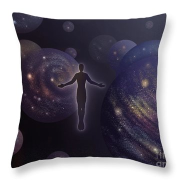 Many Worlds Throw Pillow by Amyla Silverflame