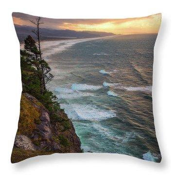 Throw Pillow featuring the photograph Manzanita Sun by Darren White