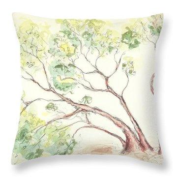 Manzanita Tree Throw Pillow