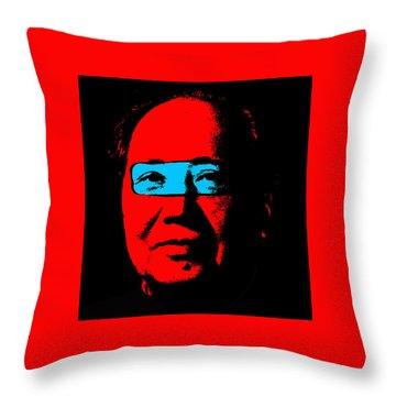 Mao 2 Throw Pillow