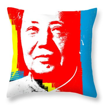 Mao 3 Throw Pillow