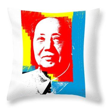 Mao 3 Throw Pillow
