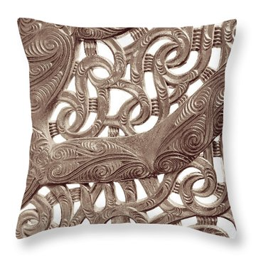Maori Abstract Throw Pillow