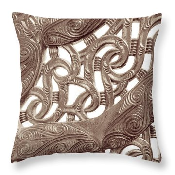 Maori Abstract Throw Pillow