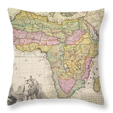 Map Of Africa Throw Pillow by Pieter Schenk