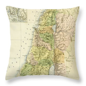 Map Of Canaan Or Palestine Throw Pillow