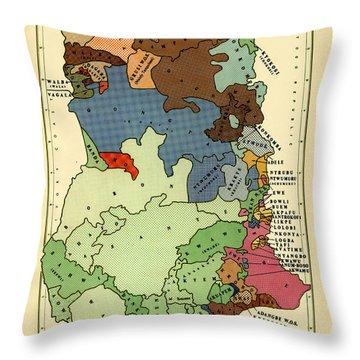 Map Of Ghana 1966 Throw Pillow