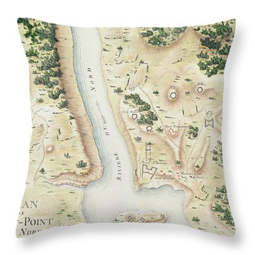 Map Of North West Point Va Throw Pillow
