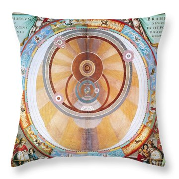 Map Of The Universe, 1660 Throw Pillow by Granger