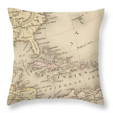 Map Throw Pillow by Sample