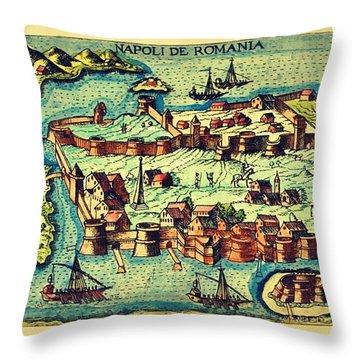Map Seaport Throw Pillow