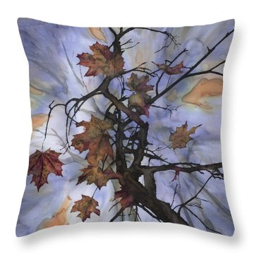 Maple Autumn Splash Throw Pillow