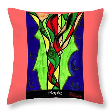Throw Pillow featuring the painting Maple by Clarity Artists