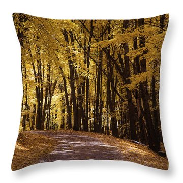 Maple Glory Throw Pillow