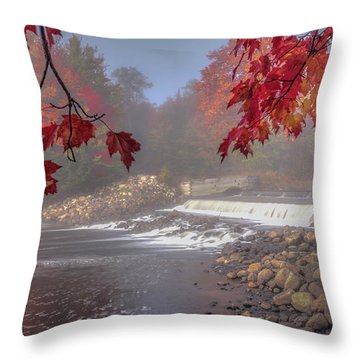 Maple Leaf Frame Ws Throw Pillow