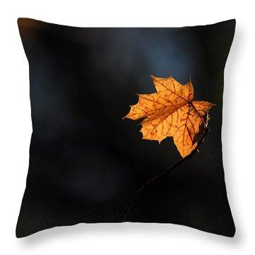 Maple Leaf Setauket New York Throw Pillow