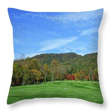 Maple Red Throw Pillow