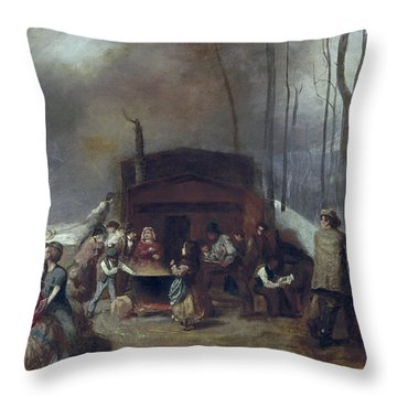 Maple Syrup, C1865 Throw Pillow by Granger