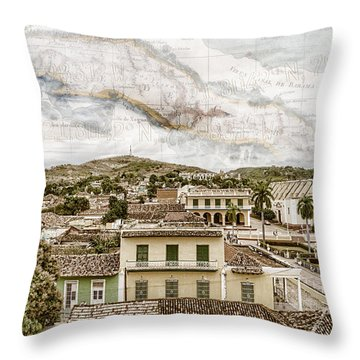 Mapping Trinidad Throw Pillow