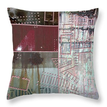 Maps #17 Throw Pillow