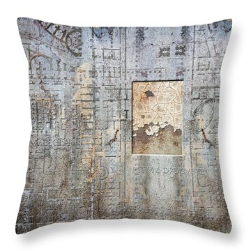 Maps #18 Throw Pillow