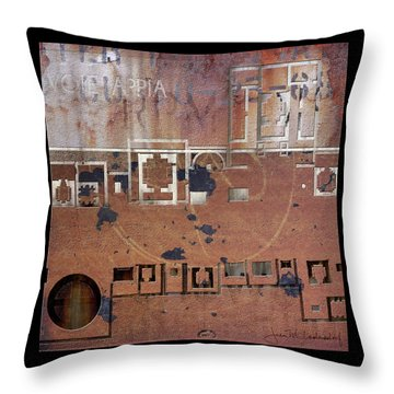 Maps #19 Throw Pillow