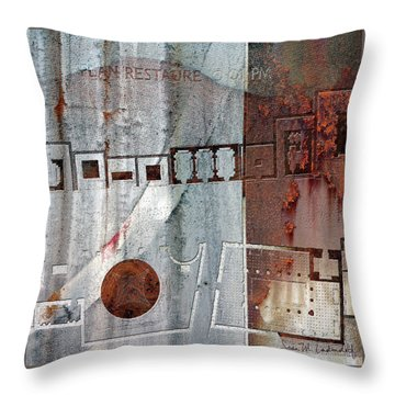 Maps #20 Throw Pillow