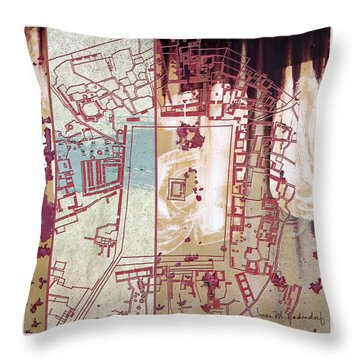 Maps #27 Throw Pillow