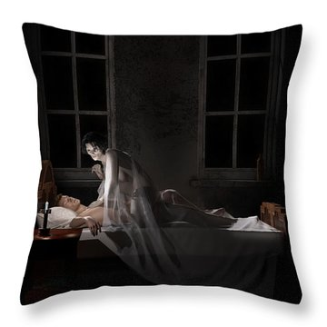 Mara - Mare Throw Pillow by Andy Renard