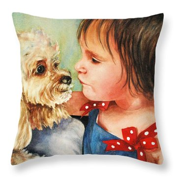 Mara Meets Mocha Throw Pillow