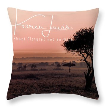 Throw Pillow featuring the photograph Mara Pink Dawn  by Karen Lewis