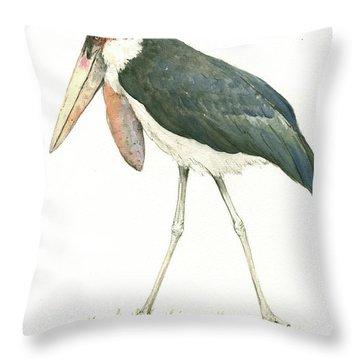 Marabou Throw Pillow by Juan Bosco
