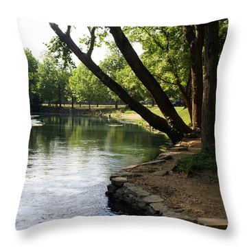Maramec Springs 5 Throw Pillow by Marty Koch