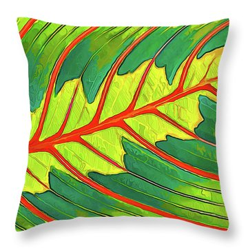 Throw Pillow featuring the digital art Maranta Red 2 by ABeautifulSky Photography
