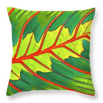 Maranta Red 2 Throw Pillow