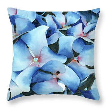 Marathon Hydrangeas Throw Pillow