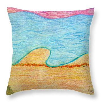 Marbella Beach Throw Pillow