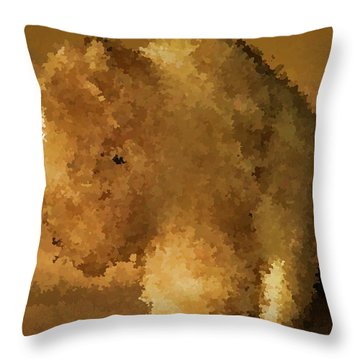 Marble Bison Throw Pillow
