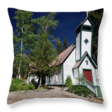 Marble Chapel Throw Pillow