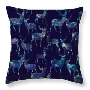Marble Deer Throw Pillow by Varpu Kronholm