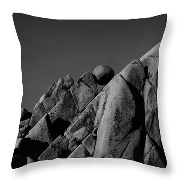 Marble Rock Formation B And W Version Throw Pillow