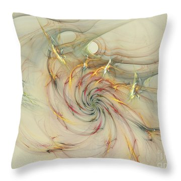 Marble Spiral Colors Throw Pillow by Deborah Benoit