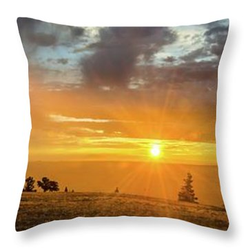Marble View Sunrays Throw Pillow
