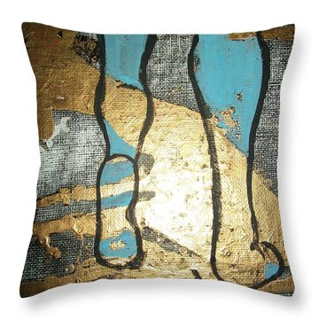 Marble Walk Throw Pillow by Laurette Escobar
